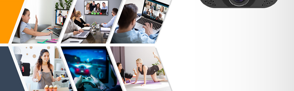 video conference, webinars, online classes, gaming, group video call, family video calls etc