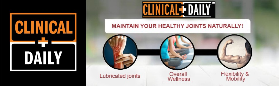 clinical daily joint care banner highlights product features