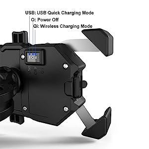 wireless + USB charging