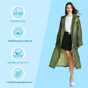 HLKZONE Rain Coats for Women
