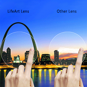 Virtually clear with high light transmittance