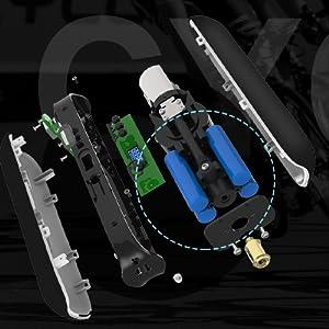 Een beschermplaat van de batterij is doorslaggevend voor acculuchtpomp.
