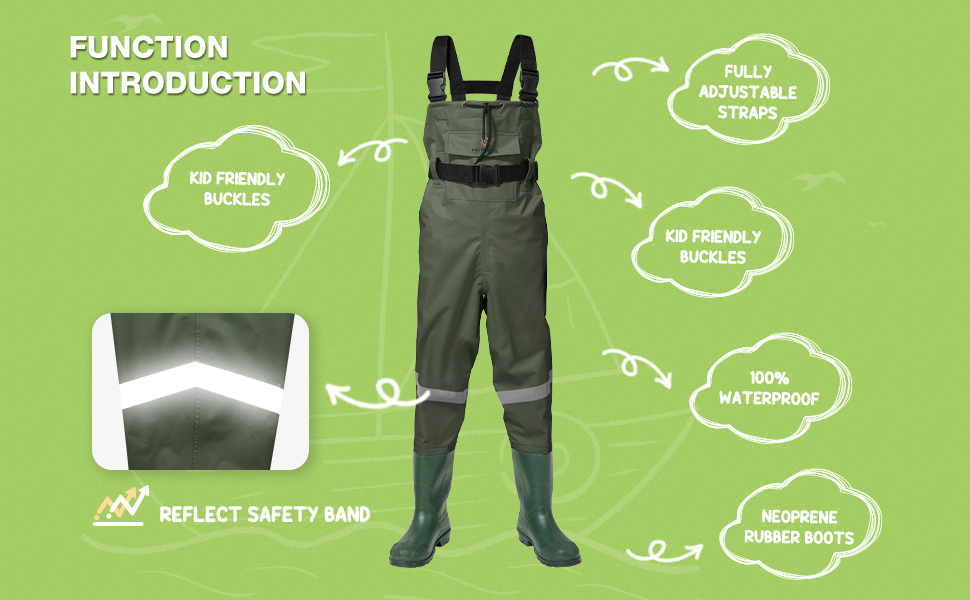 youth fishing chest waders for toddler & children