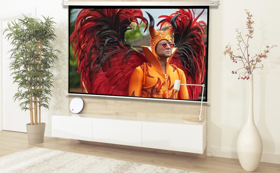 """pantalla de proyeccion electrica 180 pulgadas, 180"""", pantalla para proyector, pantalla barata"""