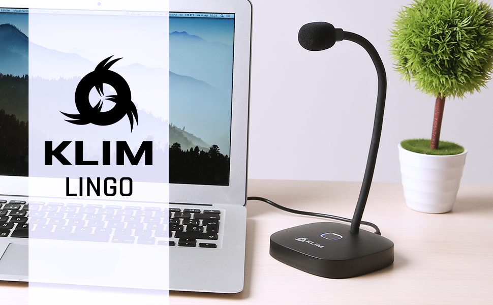 Compatible with Any Computer Desktop USB Microphone for PC and Mac Professional Desktop Microphone High Definition Audio with Mute Button KLIM Lingo New 2020