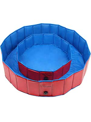 Dog Pool for Dogs, Folding Kiddie Pool, Pet Pools for Dogs, Collapsible Pool for Dogs