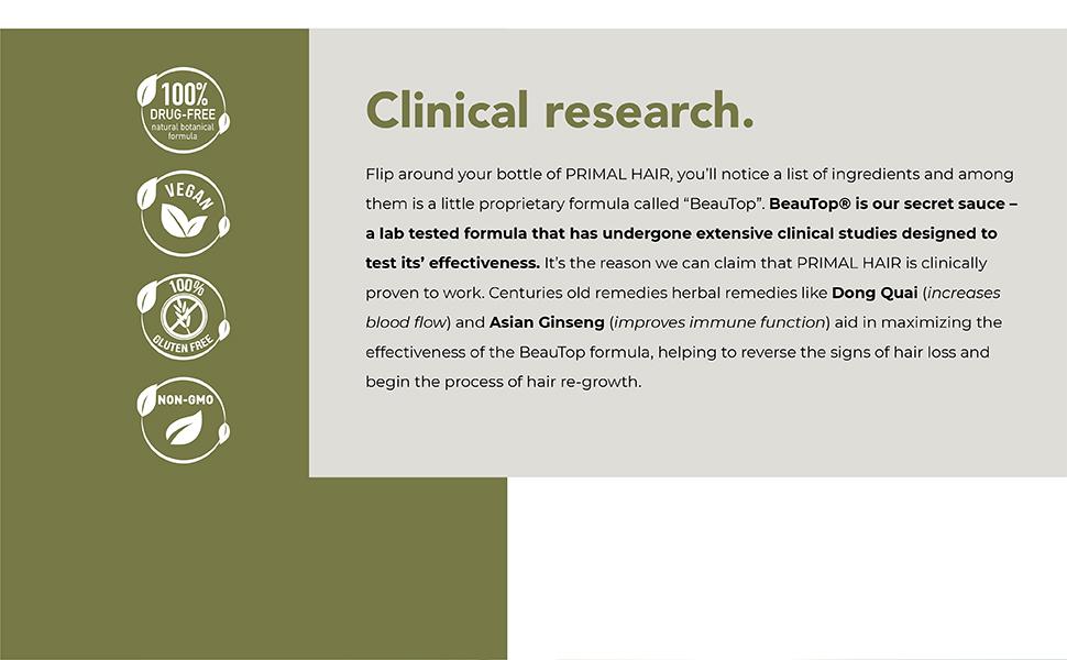 naturally, hair growth, clinically proven, botanical formula, hair loss, men, women,