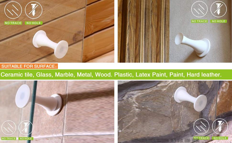 ZC GEL Magnetic Door Stopper Self Adhesive, Silicone Door Stop Holder Wall Mount Damage-Free