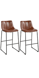 Yaheetech Leather Dining Bar Chairs