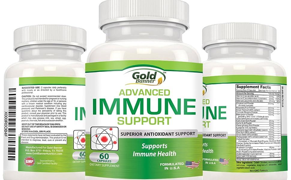 Gold Banner Immune Support Supplement and Antioxidant Health