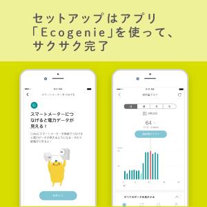 セットアップはアプリ「Ecogenie」を使って、サクサク完了