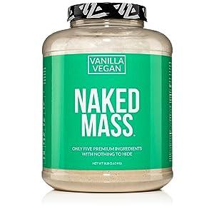 vanilla vegan weight gainer protein shake, mass gainer smoothie, vanilla weight gainer shake for men