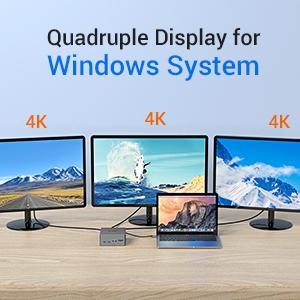 Multi Display Docking Station for Windows laptops
