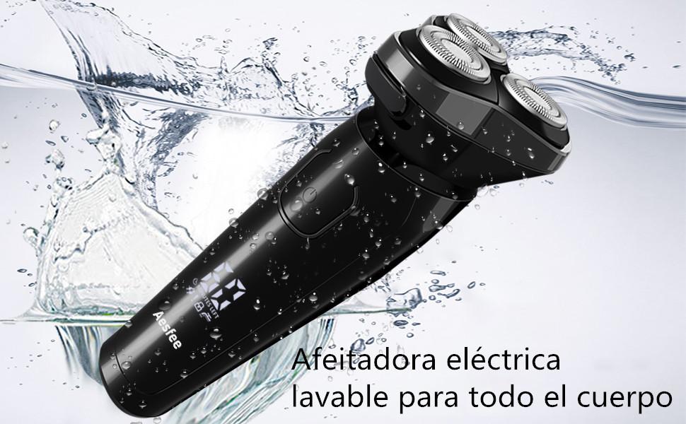 Afeitadora Eléctrica Rotativa Uso en Húmedo y Seco para Hombre ...
