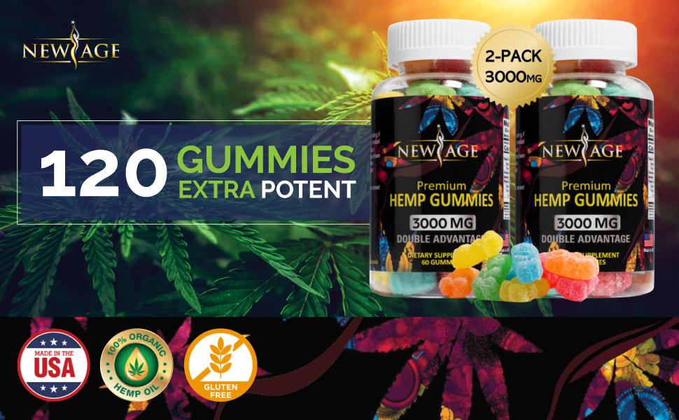 new age hemp premium gummies bears gummy pain relief anti anxiety sleep