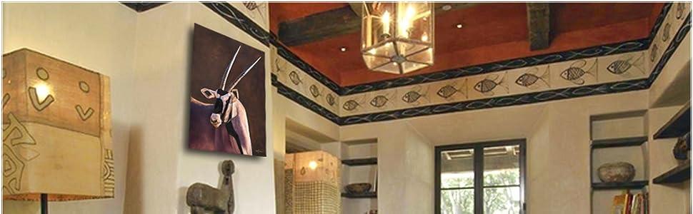 Gemsbok Gem african staging living room decor Amazon banner