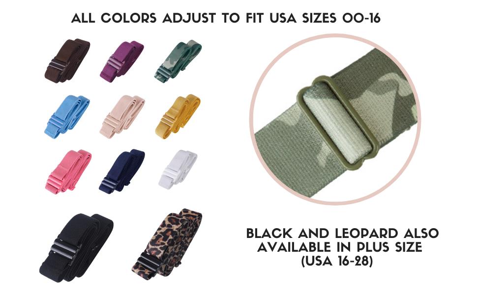 Plus size belt for women elastic stretch belt black belt snake belt no buckle belt tights up belt