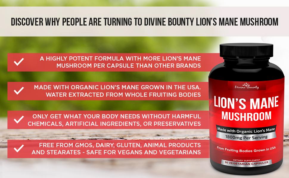 Divine Bounty Lion's Mane
