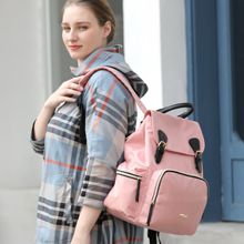 Hafmall Pink Changing Backpack for Mom