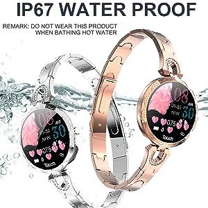 smart watch waterproof swimming fitness tracker IP67 activity tracker for women ladies silver gold