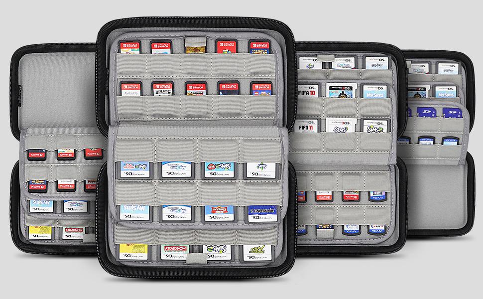 nintendo switch 3ds ds 2ds game card case holder cartridges storage