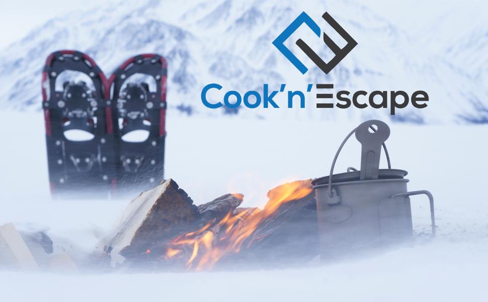 COOK'N'ESCAPE Lightweight Titanium Pot with Lid