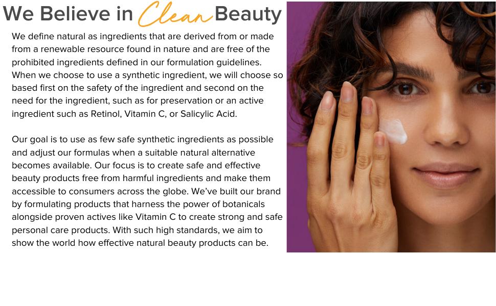 We Believe in Clean Beauty