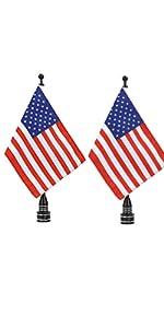 USA Flag American Flag Motorcycle  Flagpole Moun  Harley Yamaha Honda Goldwing CB VTX CBR  Fat Boy