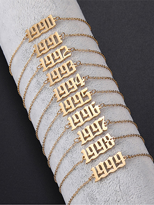 Birth Year Number Necklace