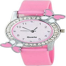 Pink colors Rubbers Belt watch