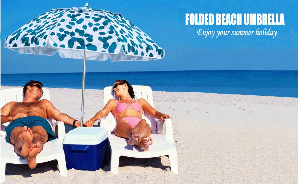 beach umbrella travel portable compact adjustable beach umbrella with sand anchor vent titl outdoor