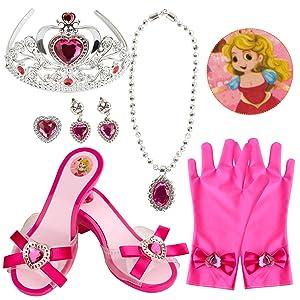 Rose Princess Dress Up Shoes Set