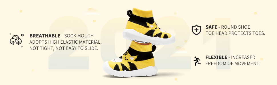 Breathable Safe FLEXIBLE infant sock shoes