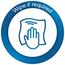 if required wipe with cloth