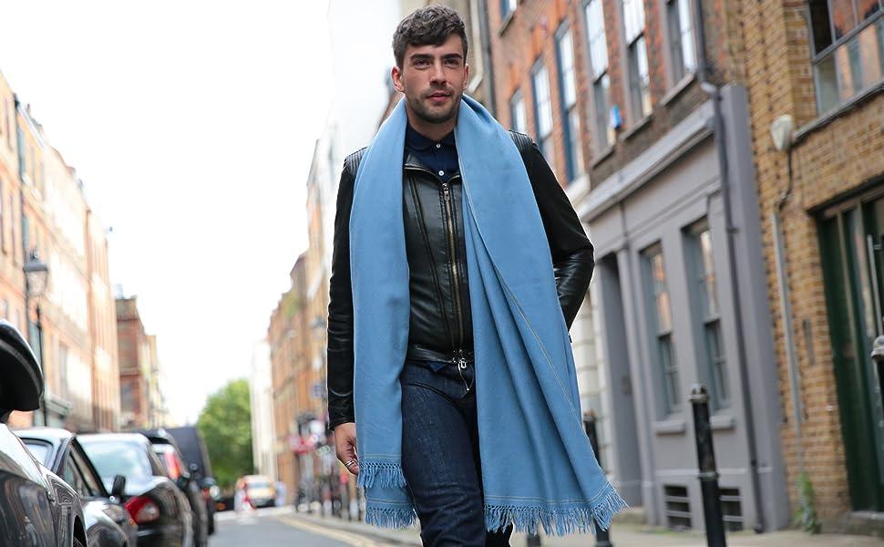 green apparel blue travel x wool grey n 100 big scarf men wrap lightweight blanket chocolate muffler