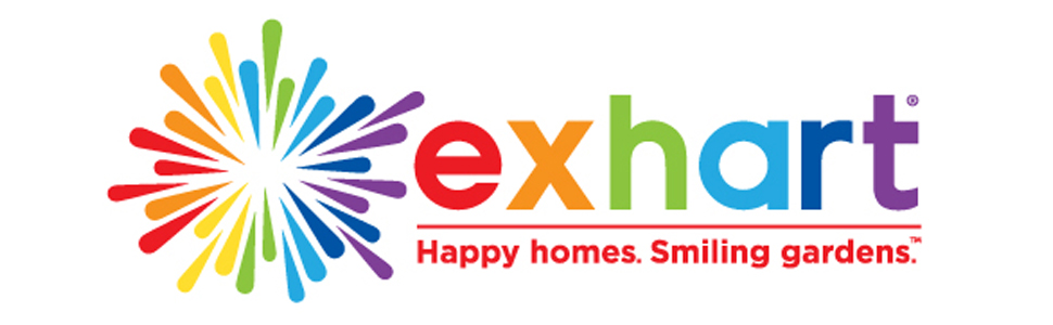 exhart rainbow logo happy homes smiling gardens