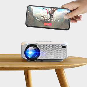 Crosstour Proyector Portátil Wi-Fi Mini Videoproyector Soporte ...