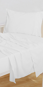 NTBAY MICROFIBER FITTED SHEET SET