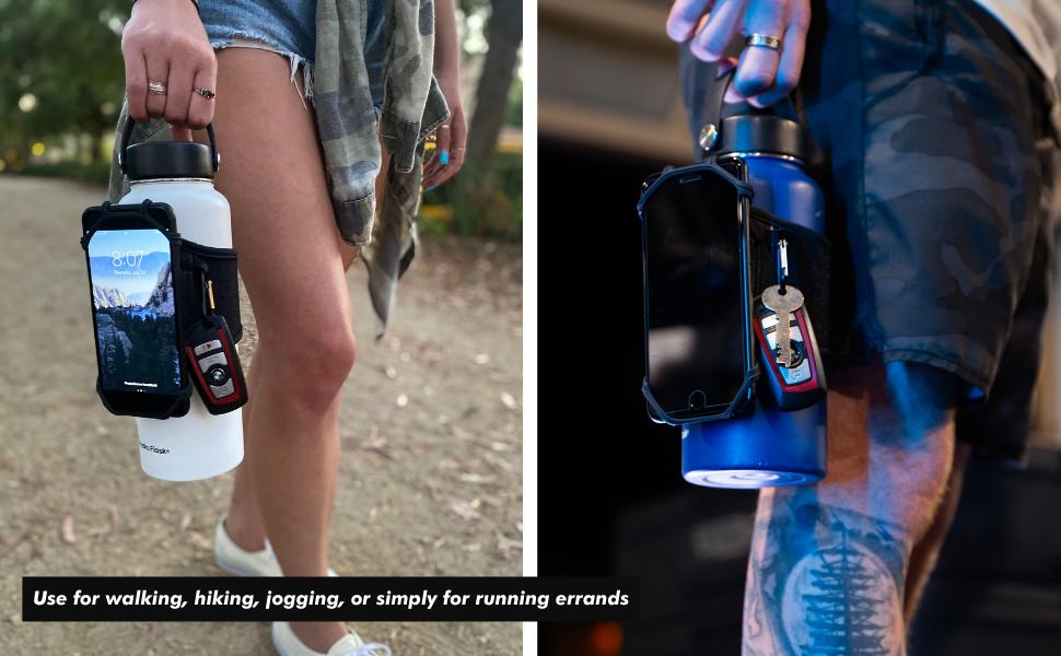 Running water bottle, jogging water bottle, hiking water bottle