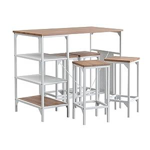 5 piece pub bar dining table set