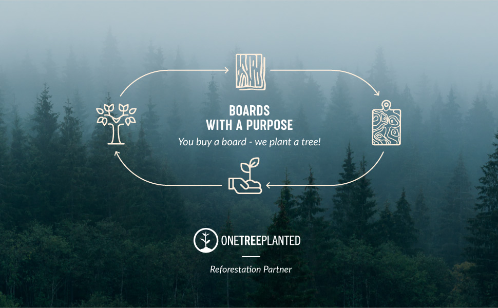 OneTreePlanted Reforestation Partner. YOU BUY A BOARD - WE PLANT A TREE!