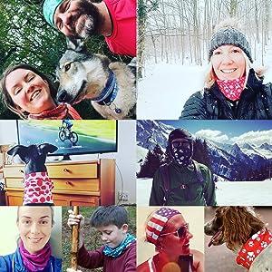 Taille Unique pour Homme Pour le sport et le plein air Ruffnek POUDRE BLEU POLKADOT Femmes et Enfants Masque de ski//Echarpe//Cache-Cou//Bandeau//Multifonctionnel /Écharpe
