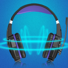 PC headset  BENGOO G9000 Stereo Gaming Headset for PS4, PC, Xbox One Controller, Noise Cancelling Over Ear Headphones with Mic, LED Light, Bass Surround, Soft Memory Earmuffs (Purple) 7f0ed084 7e2b 4de3 b8e2 dd46df3df10f