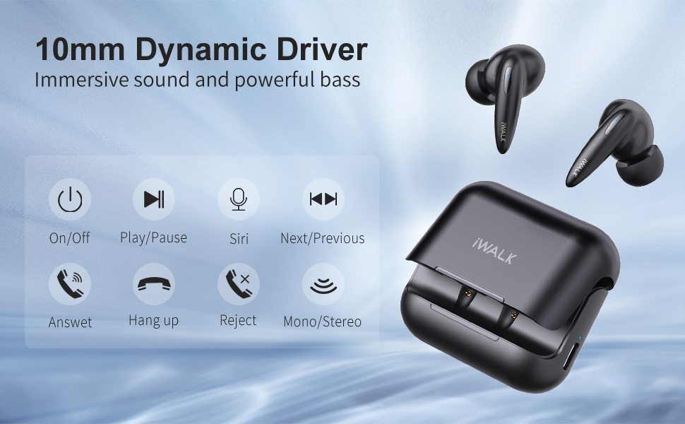 10mm Dynamic Drivers Earbud & In-Ear Headphones