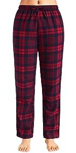 women soft comfy cotton plaid pajamas pants loungewear bottoms