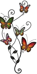 Metal Butterfly Wall Art, Hanging Wall Decor for Indoor and Outdoor Wall Sculptures
