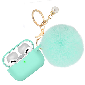 apple airpods pro 3 2 case cover silicone charger dust guard cute charging case with keychain clear.