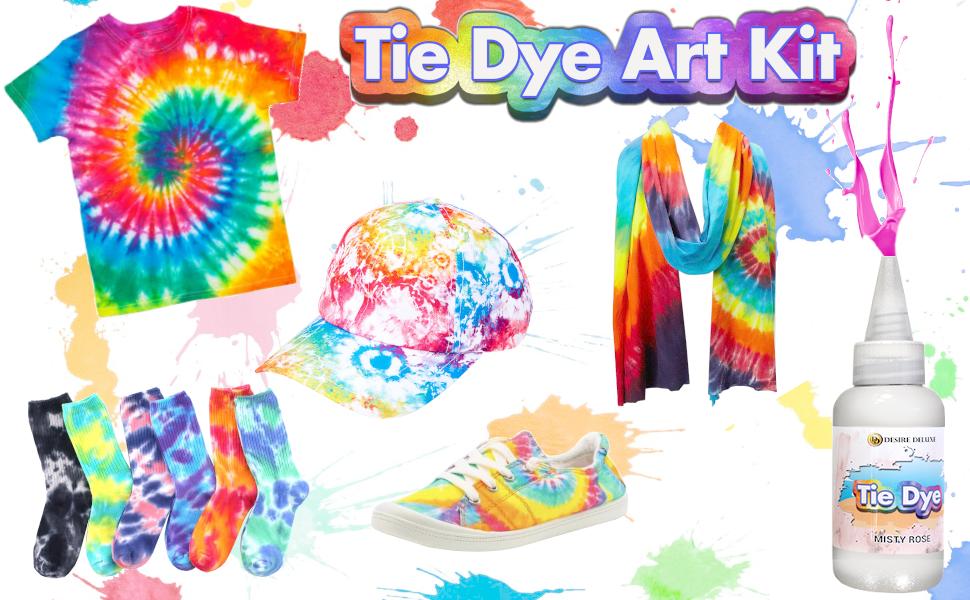 Desire Deluxe - Kit de tintes de 18 Colores para teñir Tela y Ropa Tie Dye Kit - Actividad Creativa y artística para niños y Adultos (180 Unidades)