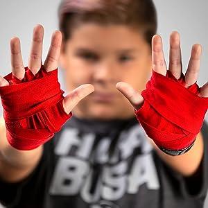 10 Pairs child  2.5 metres  100/% Cotton  Hand Wraps Boxing  MuayThai.