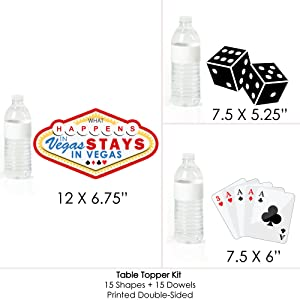 Fabulous Las Vegas Casino Party Centerpiece Sticks Table Toppers Set Of 15 Interior Design Ideas Helimdqseriescom